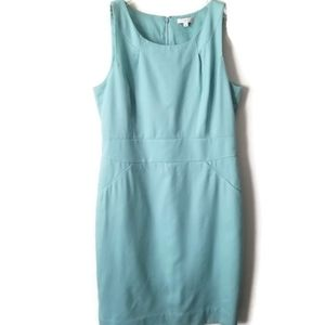 J. Crew dress sleeveless Tiffany colour wool sz 12